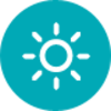 Icono de brillo del sol