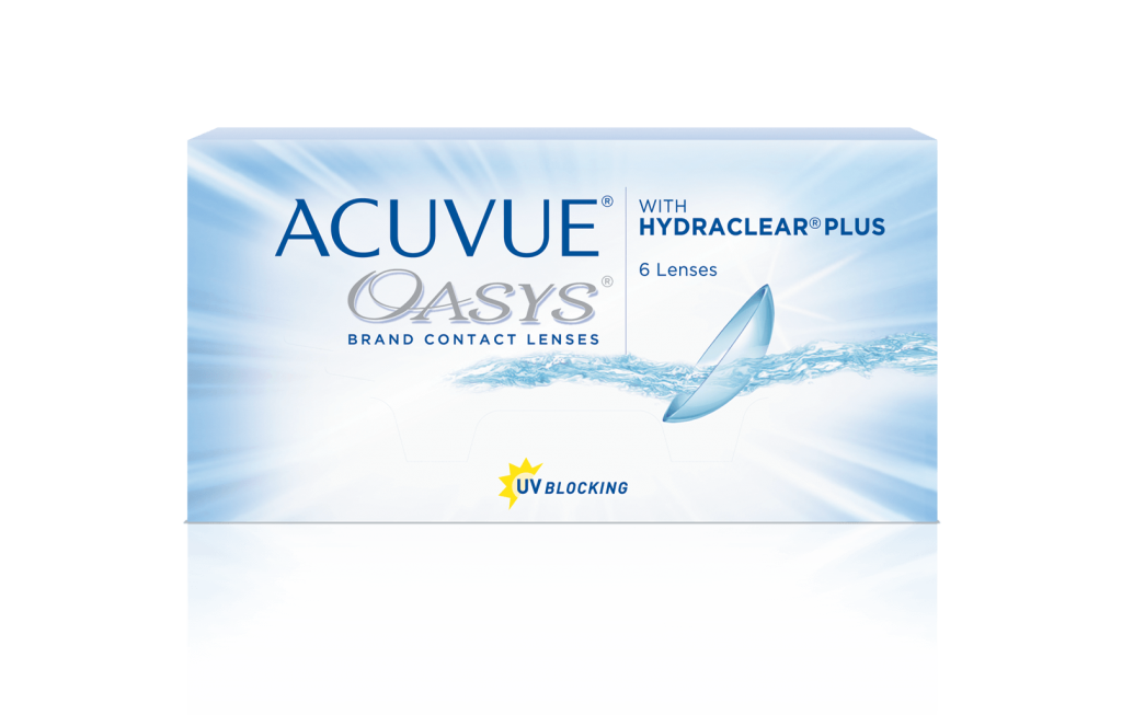 ACUVUE® OASYS® 2-WEEK con  HYDRACLEAR® PLUS